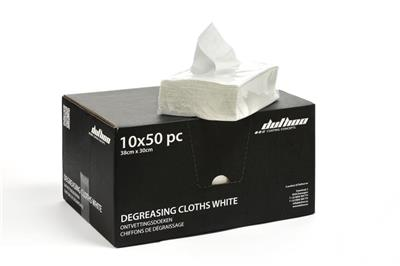 DEGREASING CLOTH WHITE ( 50pc )